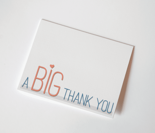 Fun Font Thank You Card