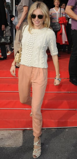 Sienna Miller Looking Pretty in Peach at the British Film Festival in France