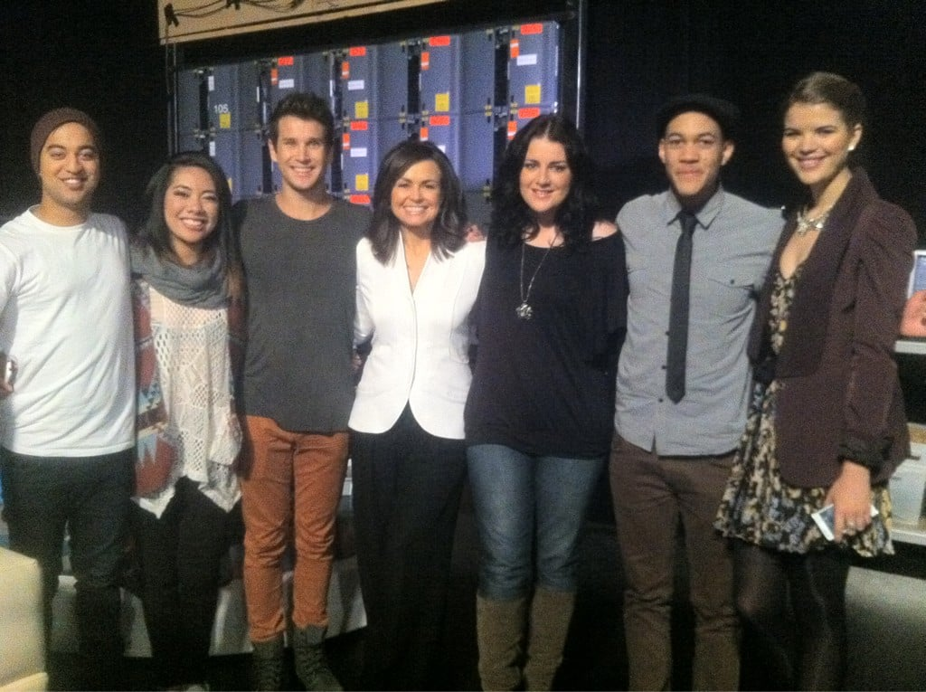 Lisa Wilkinson posed with Team Seal from The Voice. Source: Twitter user Lisa_Wilkinson