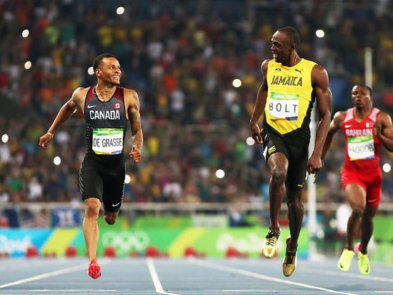 Smile as You Sprint! Usain Bolt and Andre De Grasse Share a Grin As They Finish 200-Meter Semifinal