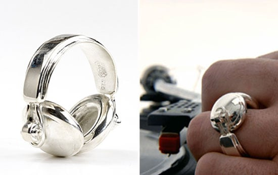Rhodium-plated sterling silver headphones ring ($473)