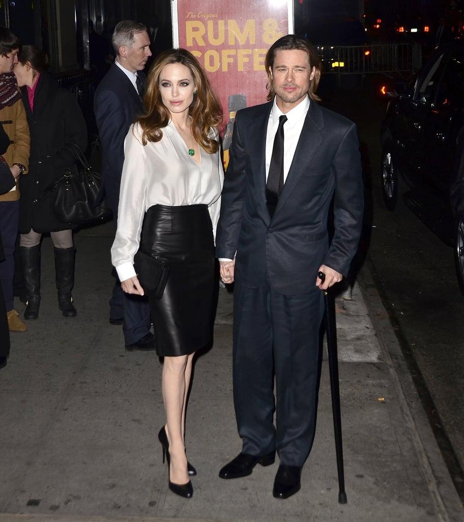 Brad Pitt and Angelina Jolie made a January 2012 trip to NYC.