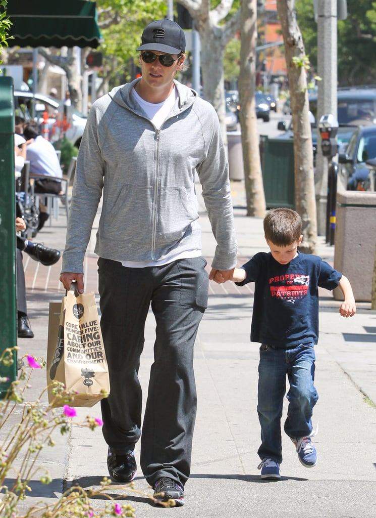 Tom Brady and Jack Moynahan walked out of Whole Foods in Brentwood.