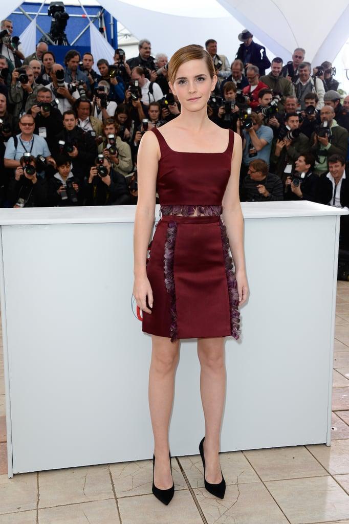 Emma Watson wore a Christopher Kane dress.
