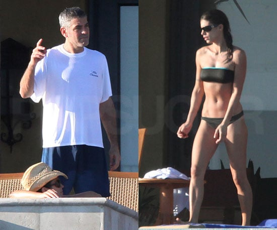 Slide Photo of George Clooney in Mexico with Elisabetta Canalis