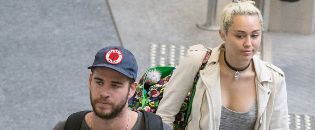 Miley Cyrus Flashes a Sweet Smile While Jetting Out of Australia With Liam Hemsworth