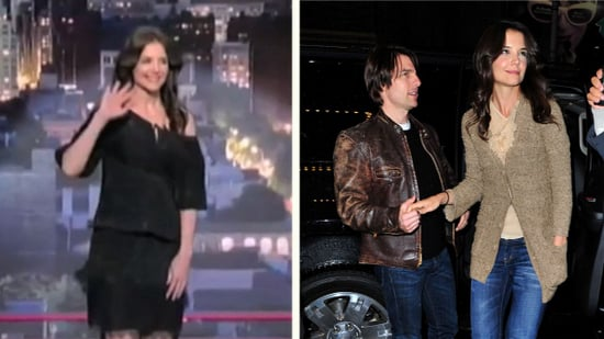 Video: Katie Holmes Does Letterman Top 10 List, PDA With Tom Cruise
