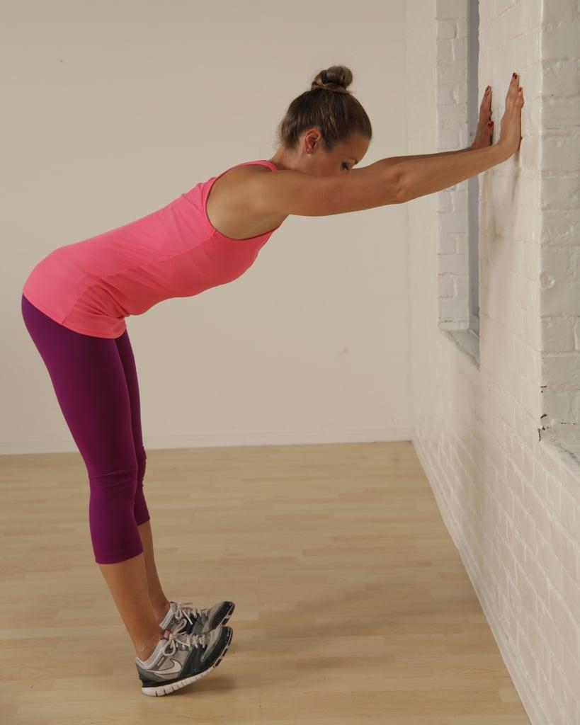 Flexed-Feet Wall Stretch