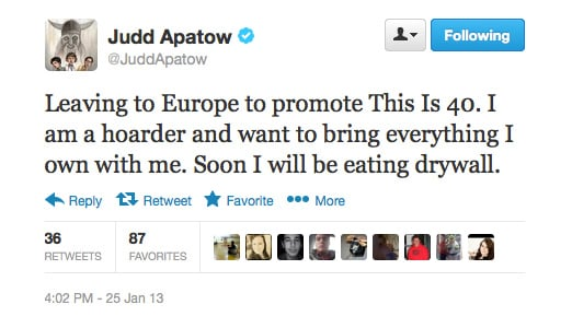 Even Judd Apatow's tweets are hilarious!