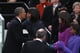 America's power pairing President Barack Obama and First Lady Michelle Obama kissed during the presidential inauguration Monday.
