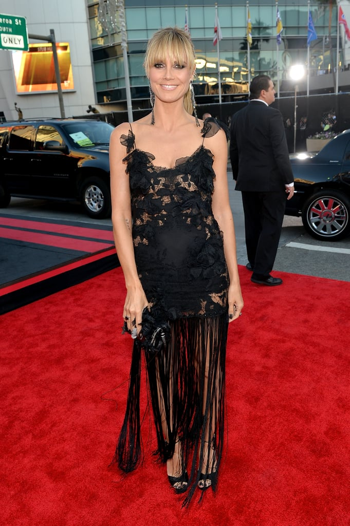 Heidi Klum went with a lacy look.
