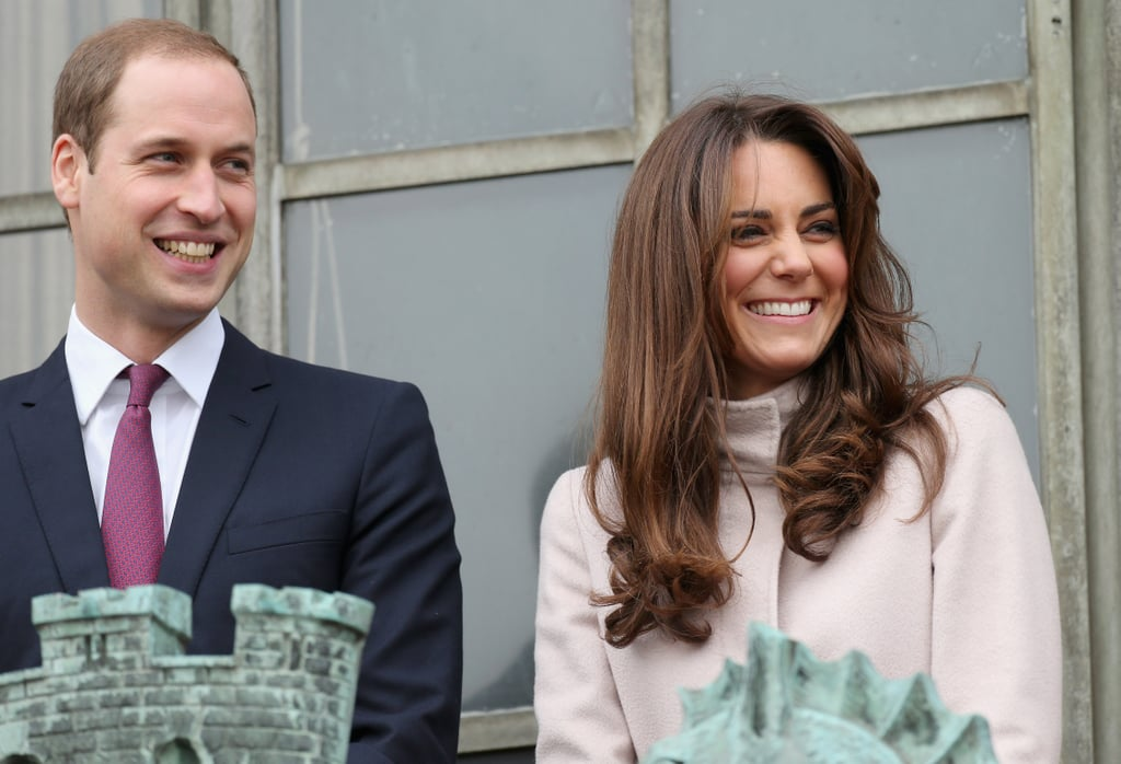 Kate Middleton had a laugh with Prince William during their official visit to Cambridge.
