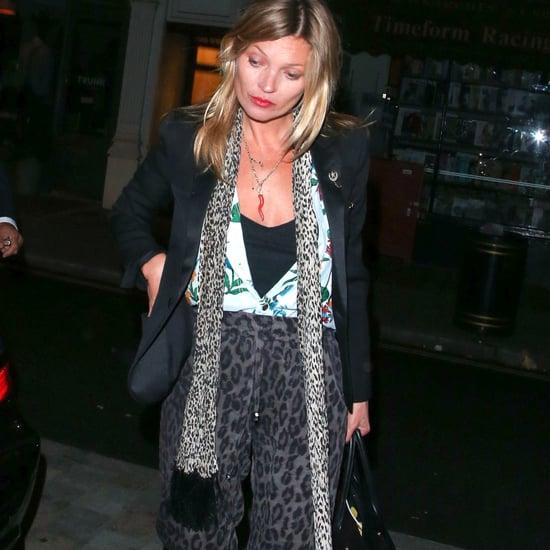 Kate Moss Wears Leopard-Print Pants 2014 | Video
