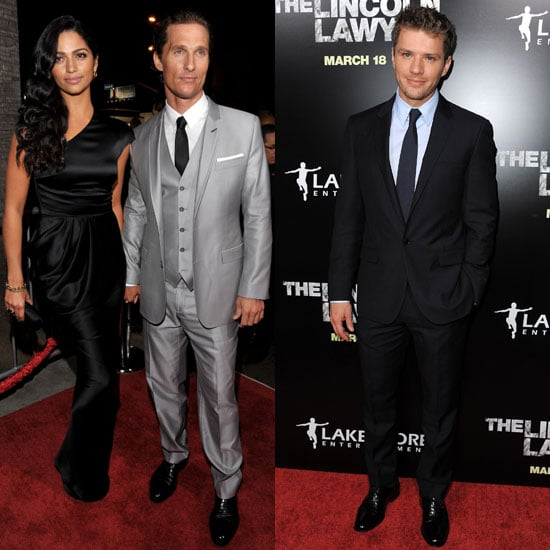 Pictures of Ryan Phillippe, Matthew McConaughey, and Camila Alves at The Lincoln Lawyer Premiere