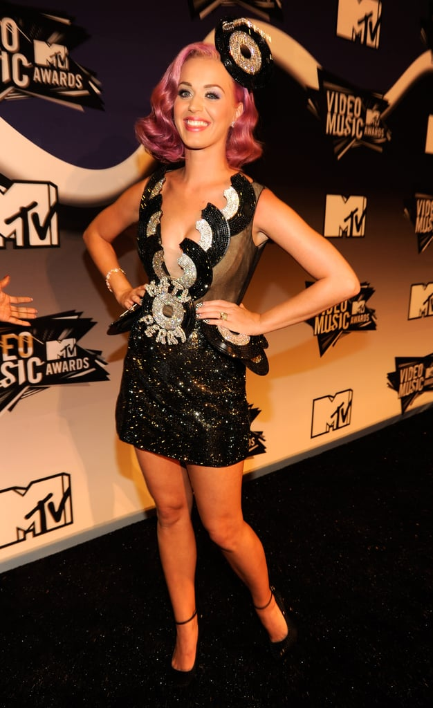 Katy Perry flashed a smile in the VMA press room.