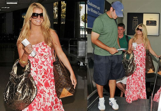 Photos of Jessica Simpson and Tony Romo in San Diego, Jessica Talks About Ashlee Being A Mother