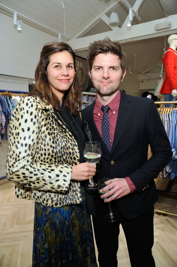 Adam Scott and Naomi Scott mingled at the party.