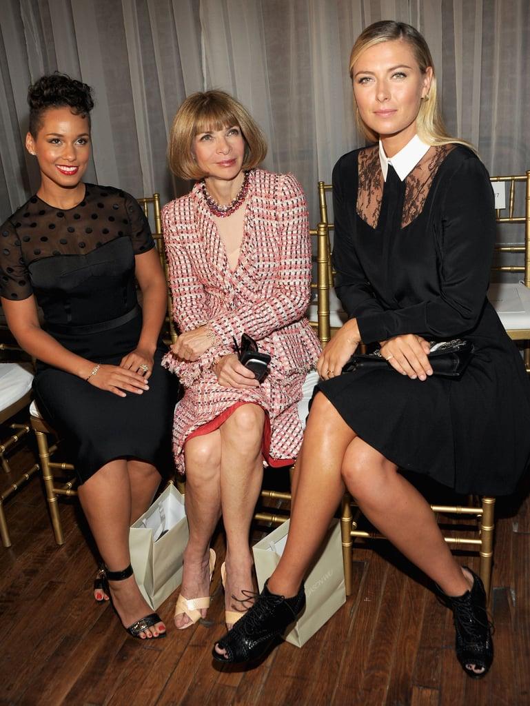 Alicia Keys, Anna Wintour, and Maria Sharapova sat front row for the Jason Wu show on Friday.