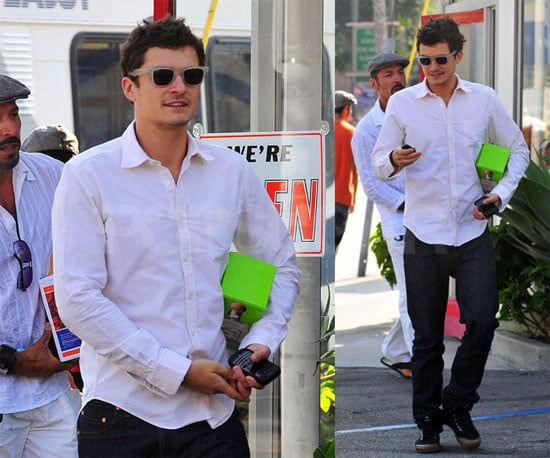 Photos of Orlando Bloom Getting Patron and Going to a Friend's Picnic in LA