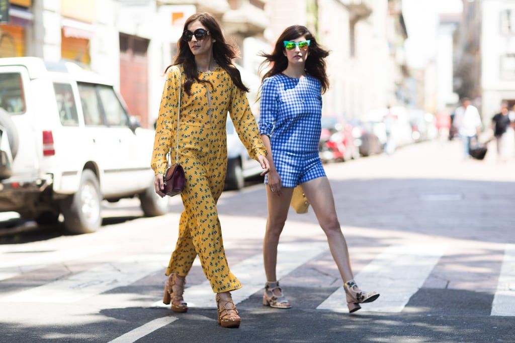 Eleonora Carisi and Valentina Siragusa made a case for summery matching sets.