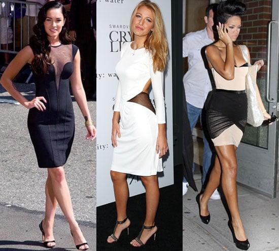 Photo of Megan Fox, Blake Lively, and Rihanna Wearing Mesh Insert Dresses
