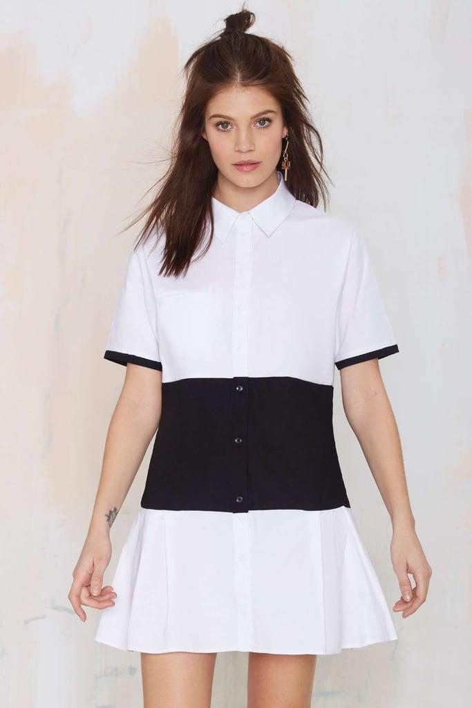 Nasty Gal middle ground shirt dress ($68)