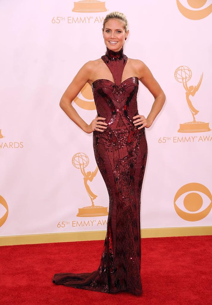Heidi Klum in Oxblood Atelier Versace at the 2013 Emmy Awards
