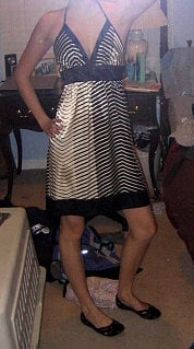 Look of the Day: Shiny Stripes!