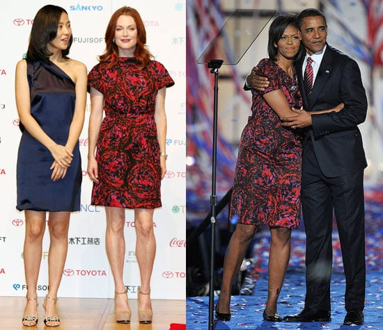 Who Wore It Better? Thakoon Red and Purple Print Dress