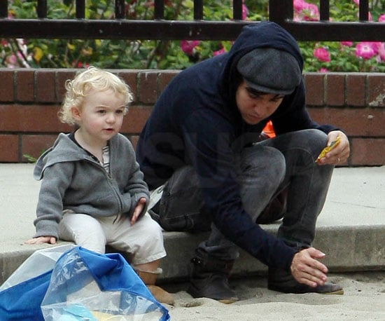 Slide Picture of Pete Wentz and Bronx at LA Park
