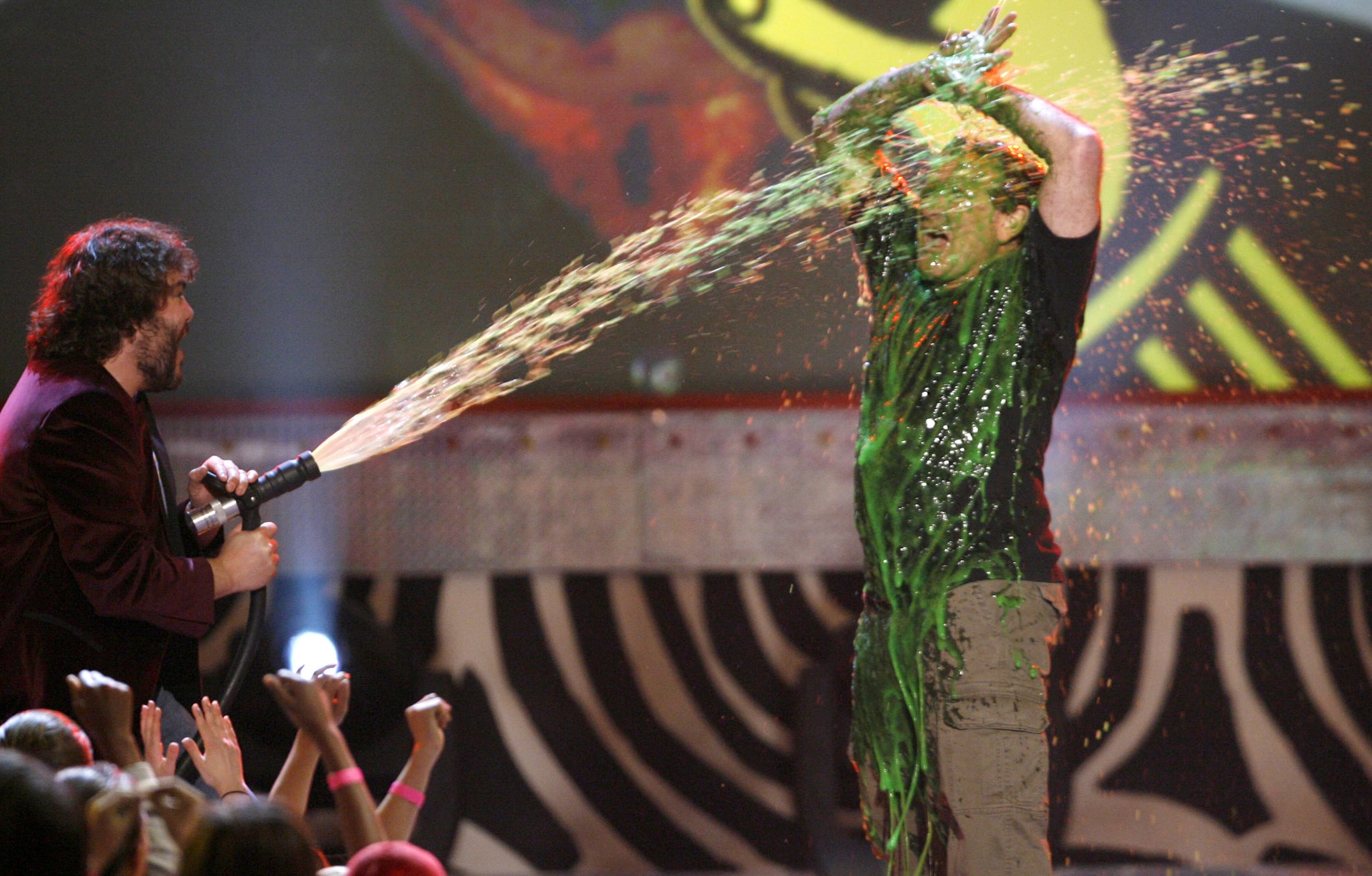 He got slimed on stage by Jack Black at the Kids' Choice Awards in April 2006.