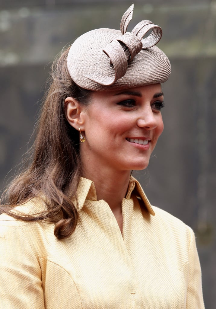 Kate Middleton looked gorgeous in a Emilia Wickstead dress for the Thistle Ceremony in Edinburgh.
