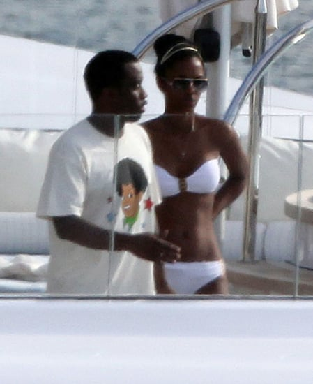 Pictures of Diddy and Bikini Clad Kim Porter on Vacation