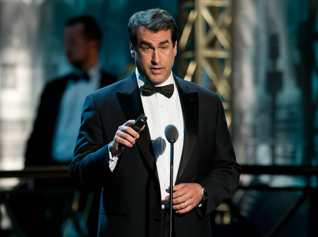 Rob Riggie spoke at the Comedy Awards in NYC.