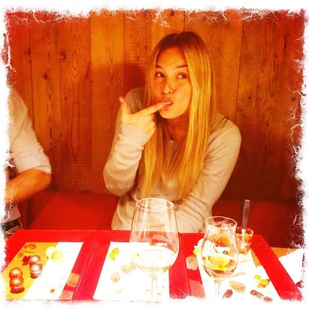 Bar Refaeli enjoyed some desserts. Source: Instagram user barrefaeli