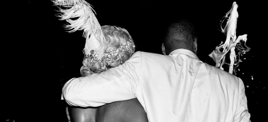 Beyoncé Knowles and Jay-Z were dapper for a themed party.