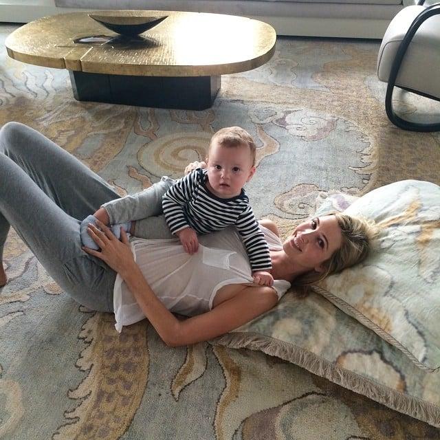 Ivanka Trump and Joseph Kushner enjoyed some floor time together. Source: Instagram user ivankatrump