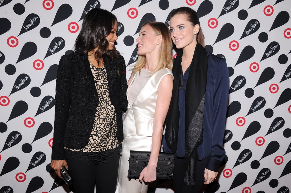 Zoe Saldana, Kate Bosworth and Allison Williams all chatted together.