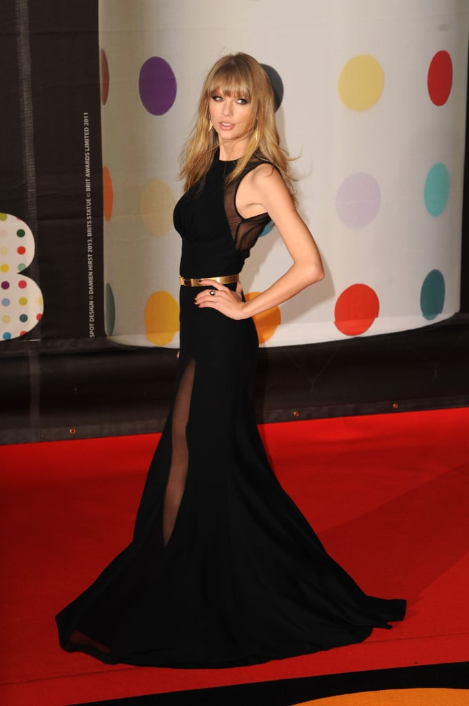 Taylor Swift attended the Brit Awards in London.