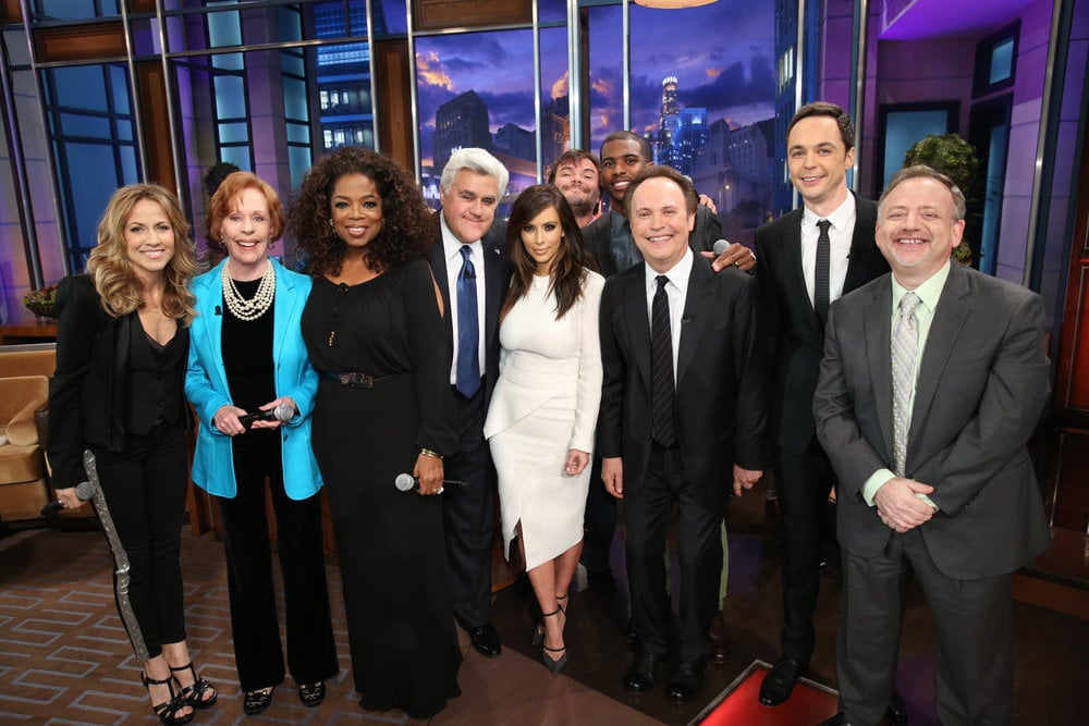 A huge group of celebrities, including Kim Kardashian, Oprah Winfrey, and even Jim Parsons, gathered to say goodbye Jay Leno.