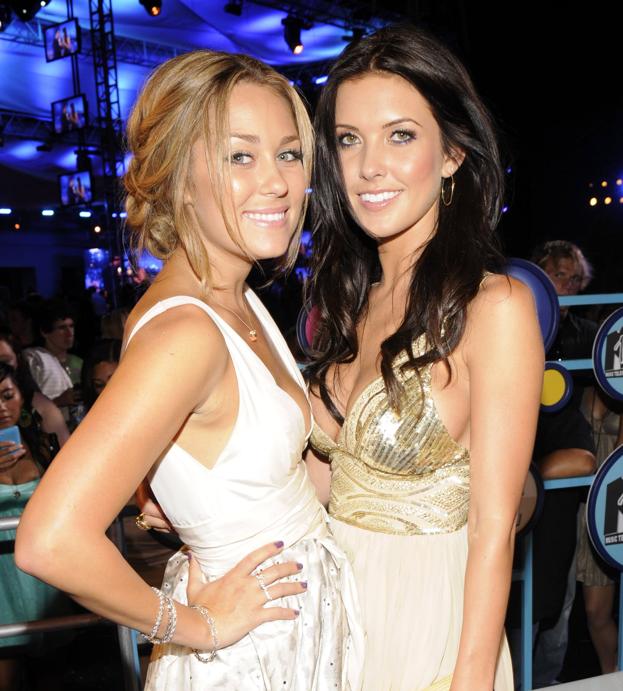 Lauren Conrad and Audrina Patridge partied after the MTV VMAs in September 2008.