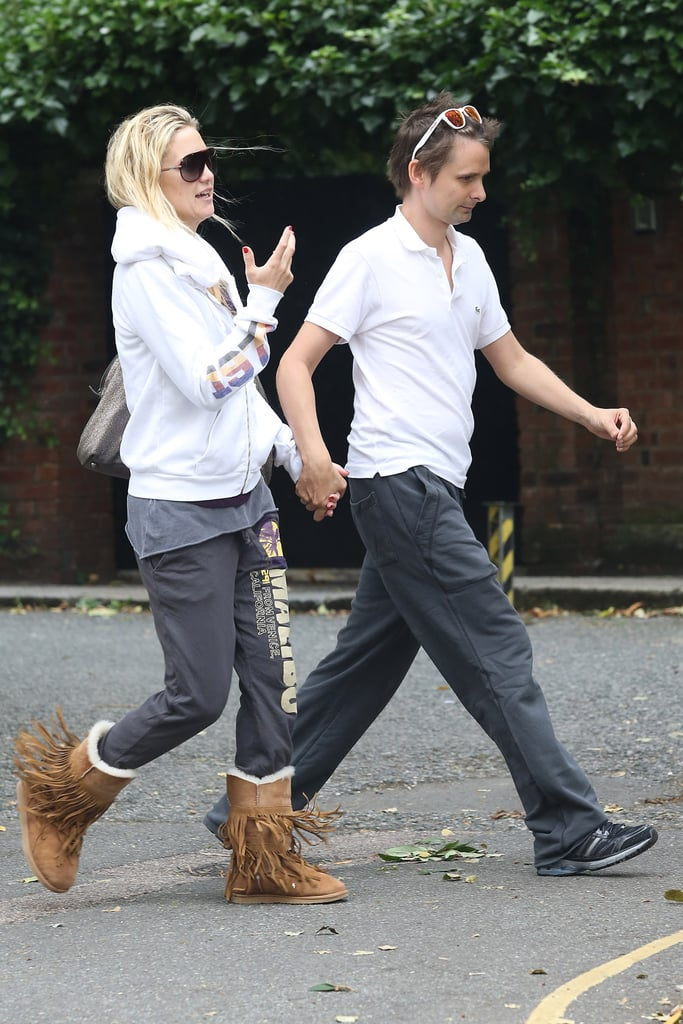 Kate Hudson and Matthew Bellamy took a stroll hand in hand in London.