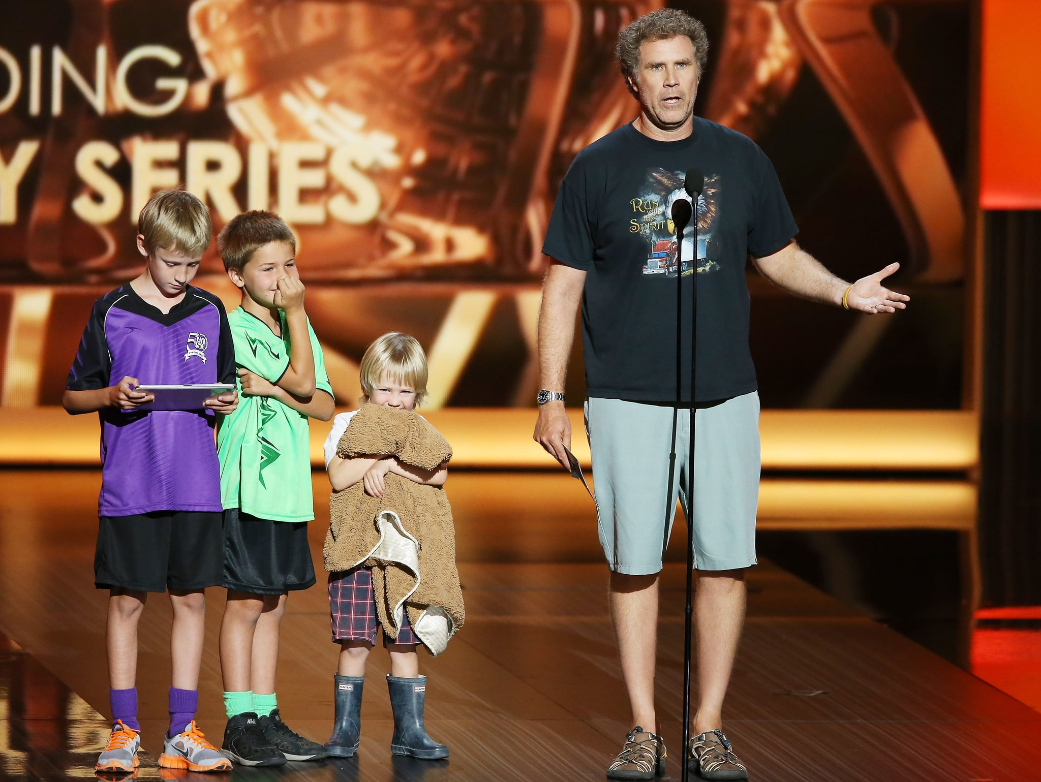 Will Ferrell brought his kids on stage at the 2013 show.