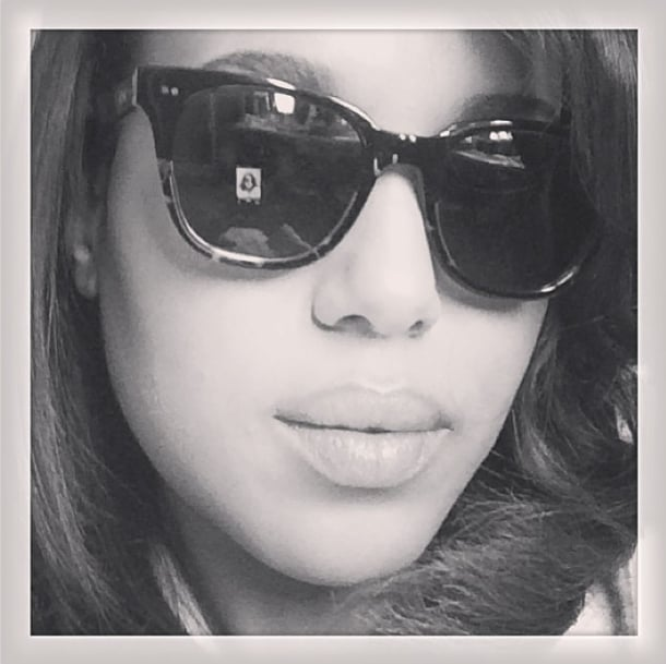 Kerry Washington got shady for a good cause in a pair of Toms frames. Source: Instagram user kerrywashington