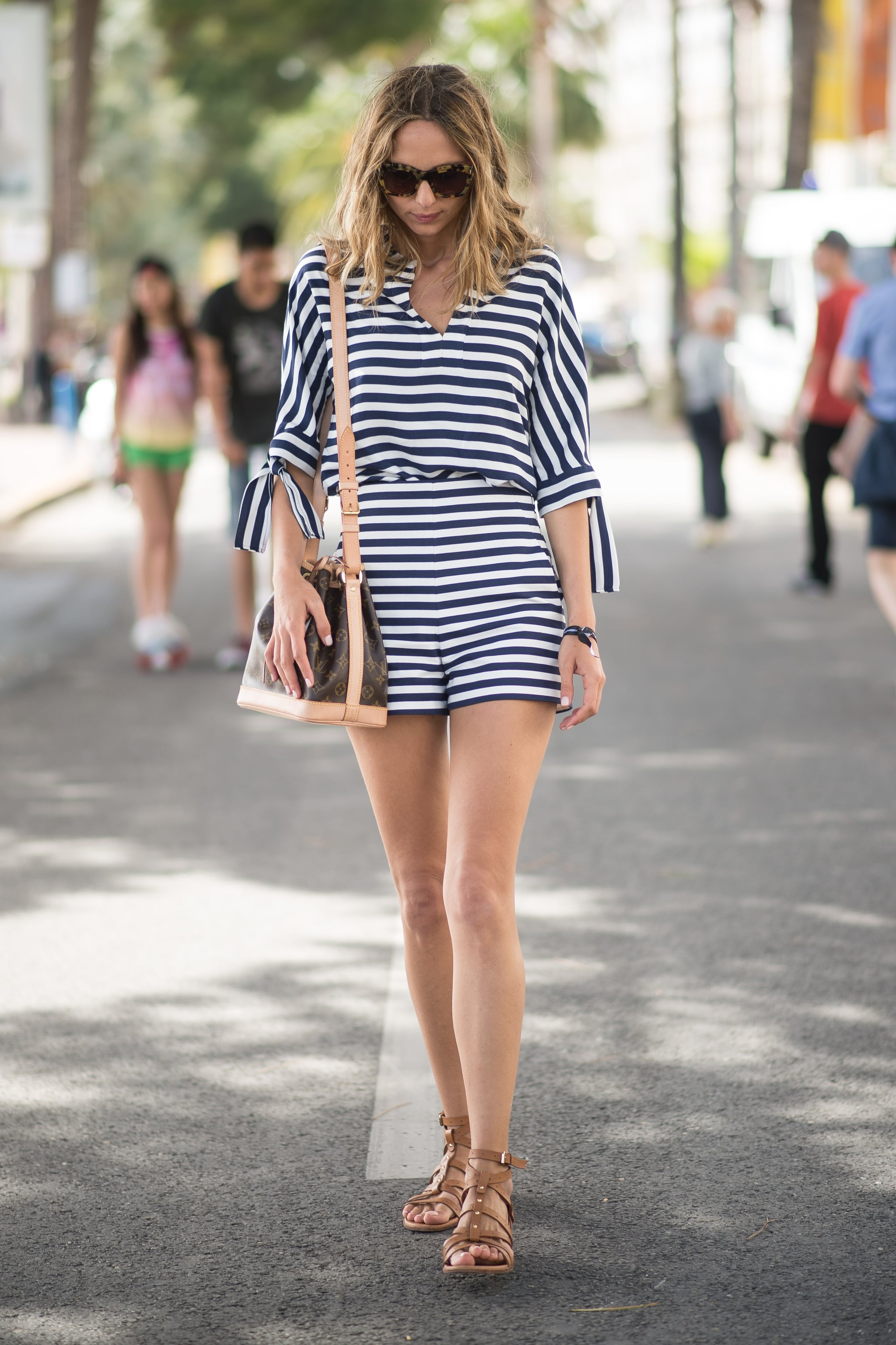 Nothing feels quite so summery as a classic striped look. Just add your favorite neutral sandals and bag to finish.