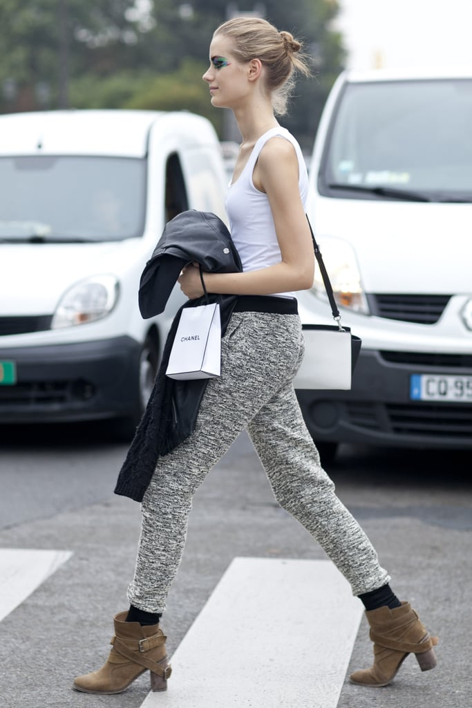 This is how you do chic sweats.