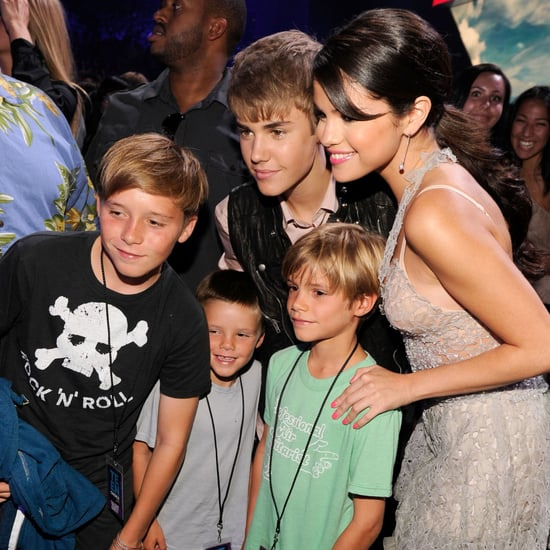 Justin Bieber, Selena Gomez Audience Pictures at 2011 TCA