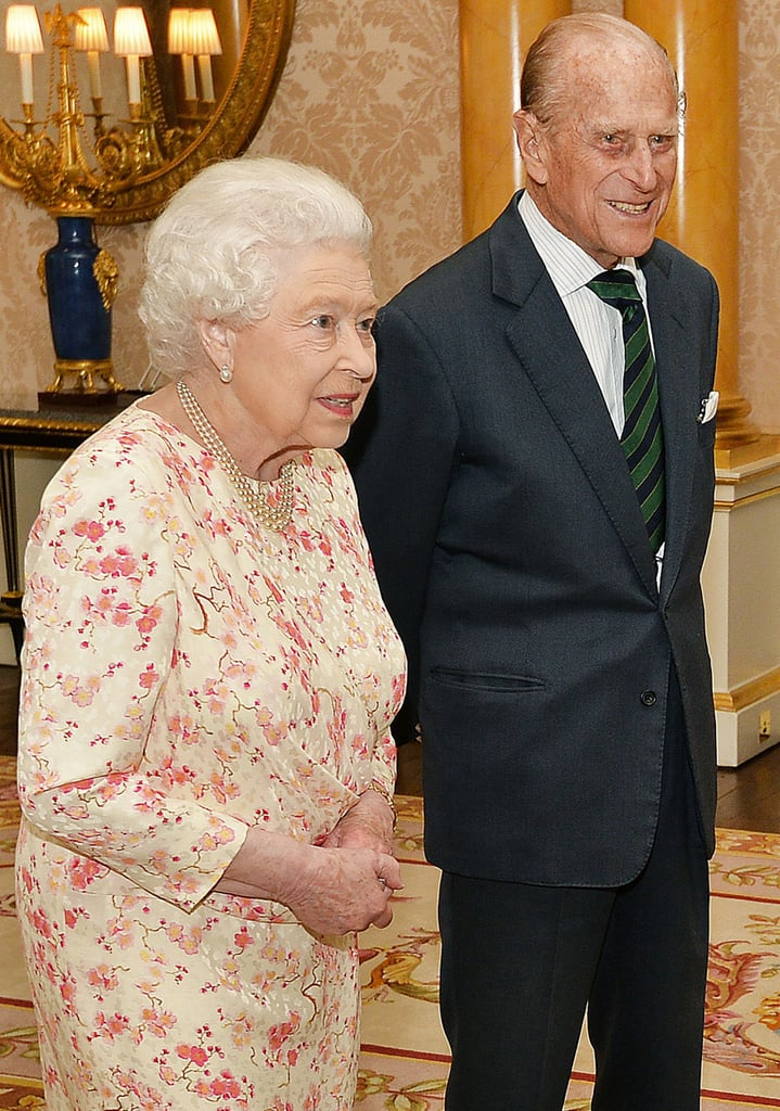 Queen Elizabeth II and Prince Philip greeted German President Joachim Gauck at the Buckingham Palace on June 1, 2016.