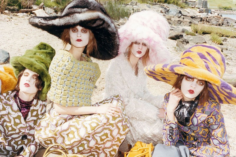 Marc Jacobs larger-than-life hats make a serious statement in the designer's Fall ads.