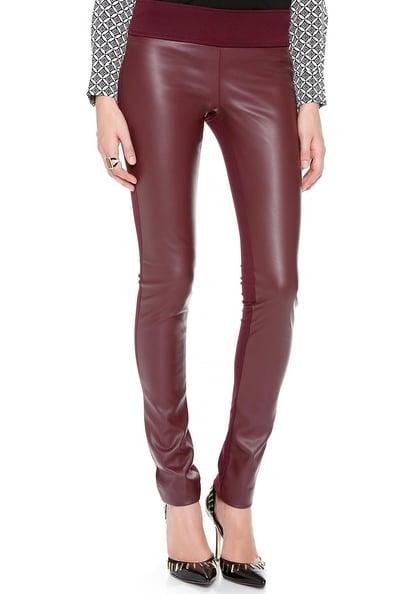 Club Monaco Burgundy Tasha Faux Leather Leggings